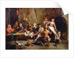 Interior of an Inn with Card Players by Willem van the Elder Herp