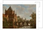 De Grote Houtpoort, Haarlem by Bartholomeus Johannes van Hove