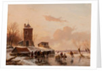 Loading the Sleigh, 1858 by Andreas Schelfhout