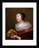 A young woman holding a skull, 1640s by Jan Olis