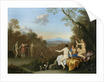 Nymphs Dancing and Making Music by a Pool on a Wooded Hilltop with the Apulian Shepherd by Daniel Vertangen