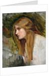 Head of a Girl, c.1896 by John William Waterhouse