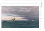 Yachts in a Seaway, Mediterranean, 1871 by John Brett