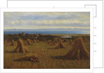 Cornstooks, Berwick Beyond, 1888 by Joseph Moseley Barber