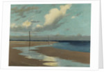 Beach at Low Tide, 1890 by Frederick Milner