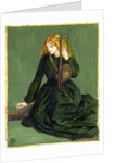 The Harp Player, a study of Annie Miller, 1872 by Dante Gabriel Charles Rossetti