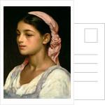 Head of an Italian Girl by Frederic Leighton