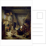A Peasant Family at Home, 1661 by Adriaen Jansz. van Ostade