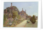 The Gardens at Montacute, Somerset, 1893 by Ernest Arthur Rowe