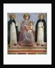 The Virgin and Child with SS Dominic and Thomas Aquinas, 1424-30 by Fra Angelico