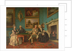 The Dutton Family in the Drawing Room of Sherborne Park, Gloucestershire, c.1774 by Johann Zoffany