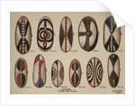 Uganda - Painted hide shields, 1909 by William Downing Webster