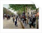 Parisian street scene by Jean Beraud