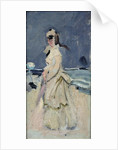Camille on the Beach, 1870-71 by Claude Monet