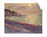 The Beach at Pourville, Setting Sun, 1882 by Claude Monet