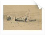 Small Beached Boats by Eugene Louis Boudin