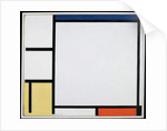 Composition with Blue, Red, Yellow and Black, 1922 by Piet Mondrian
