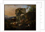 Roman Landscape with Cattle and Shepherds, 1676 by Johann Heinrich Roos