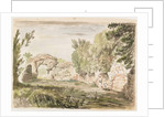 Landscape with Trees, Ruin and Three Figures by Carlo Labruzzi