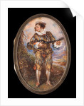Portrait miniature of Mezzetino by Simon Jacques Rochard
