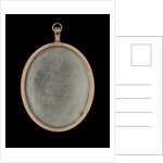 Reverse of a portrait miniature of Miss Annie Chambers by John Smart
