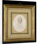 Portrait miniature of a Gentleman, wearing a coat with small collar and a cravat, his hair worn en queue by John Smart