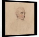 A Gentleman, wearing jacket worn open with waistcoat and cravat, his pink powdered hair worn en queue by John Smart