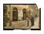 Via San Bernardino alle Ossa in Milan, Italy, 1912 by Arturo Ferrari