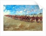 16th Lancers advancing at a gallop, 1898 by Edward Matthew Hale