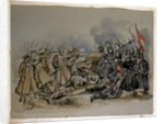 A conflict between Guards and Russian Troops during the Crimean War by George Cadogan