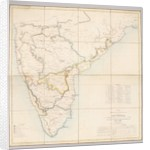 Map exhibiting the present partition of the country dependent on Fort St. George into military divisions with several stations of troops, 1843 by English School