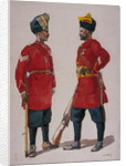 Soldiers of the 5th Light Infantry, Musalman Rajput and the 6th Jat Light Infantry, Jat Havildars by Alfred Crowdy Lovett