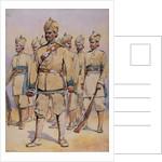 Soldiers of the 33rd Punjabis, Subadar, Punjabi Musalmans by Alfred Crowdy Lovett