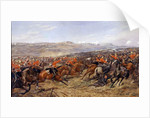 The Charge of the Heavy Brigade at the Battle of Balaclava, 25 October 1854, 1897 by Godfrey Douglas Giles