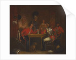 Interior of Guard Room, with soldiers of the Life Guards and Royal Horse Guards, 1840 circa by Unknown Artist
