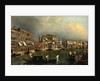 The Grand Canal at the [Rio di] Ca Foscari, c.1740-1743 by Michele Marieschi