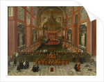 Benedict XIII Presiding over the Provincial Roman Synod of 1725, Basilica of St. John Lateran, 1725 by Pier Leone Ghezzi