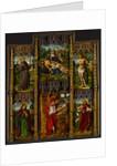 Portable Altarpiece: Pietà, Saints Francis, Sebastian, John the Evangelist, Jerome, and John the Baptist, c.1500 by Bermejo