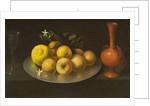 Still Life with Glass, Fruit, and Jar, c.1650 by Francisco de Zurbaran