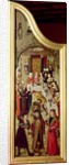 Triptych with the Miracles of Christ: left wing obverse depicting the Marriage at Cana by Flemish School
