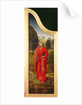 Triptych with the Miracles of Christ: right wing reverse depicting St. Peter by Flemish School