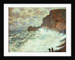 Rough Weather at Etretat, 1883 by Claude Monet