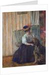 Portrait of Madame Bonnard with her Dog at Rue Drouai, 1907 by Edouard Vuillard