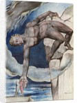Antaeus setting down Dante and Virgil in the last circle of hell by William Blake