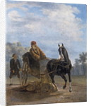 Voltaire in a cabriolet at Ferney by Jean Huber