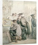 The Lounge at the Old Print Shop, Oxford by Thomas Rowlandson