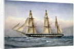 HMS Glasgow at Sea in 1861, 1903 by William Frederick Mitchell