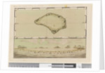 Page 25b/a Map and profile of Palmerston Island, 1768-75 by William Hodges