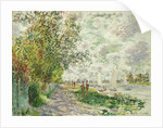 The Riverbank at Gennevilliers, c.1875 by Claude Monet