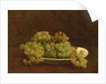 Still Life of Grapes, 1890 by Ignace Henri Jean Fantin-Latour